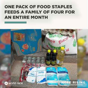 How to Feed a Family in Need for a Month